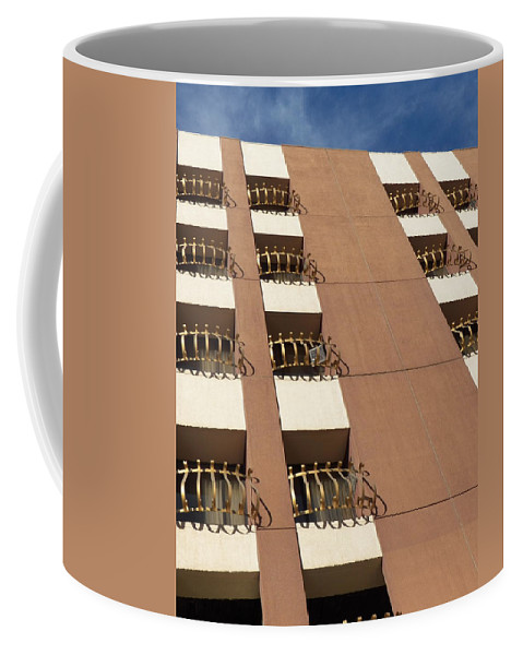 Architecture Coffee Mug featuring the photograph Guardrails And Stripes by Jennifer Robin