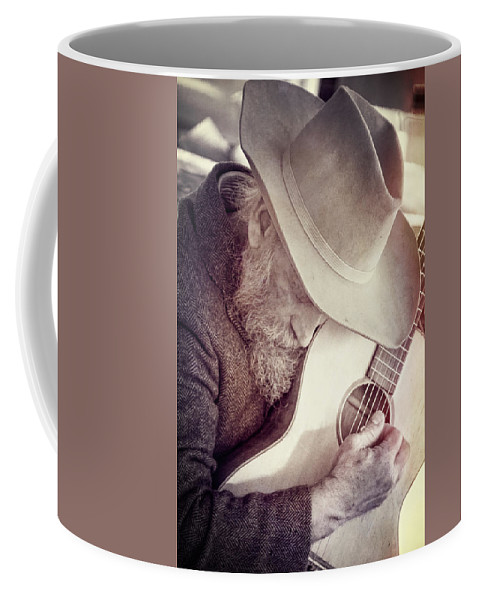 Guitar Man Coffee Mug featuring the photograph Guitar Man by Steven Bateson