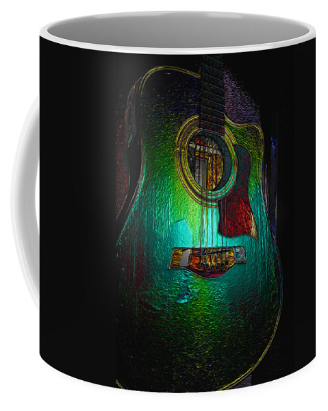 Guitar Art Coffee Mug featuring the photograph Guitar Metalica by P Donovan