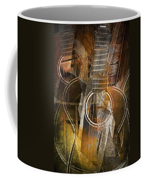 Art Coffee Mug featuring the photograph Guitar Works by Randall Nyhof