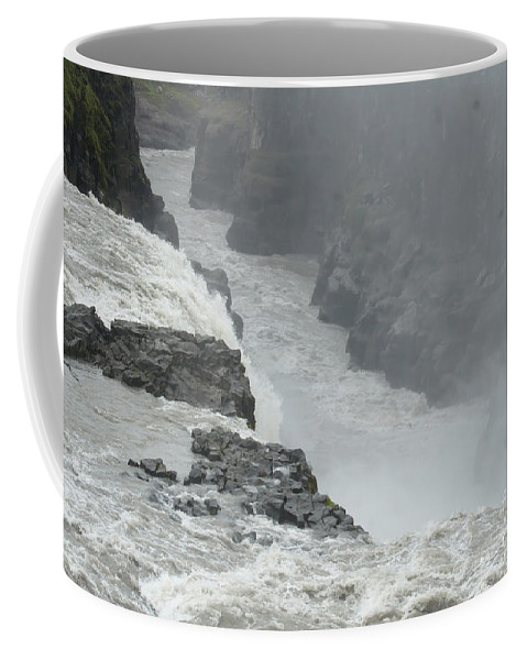Nature Coffee Mug featuring the photograph Gullfoss Waterfall Iceland by Rudi Prott