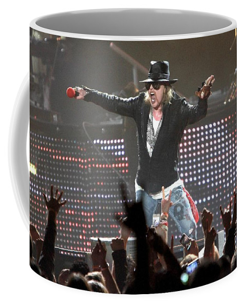 Concert Coffee Mug featuring the photograph Guns N' Roses by Concert Photos