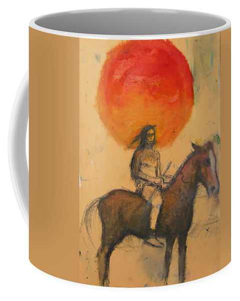 Gypsy Coffee Mug featuring the painting Gypsi Indian by Sinisa Mihajlovic