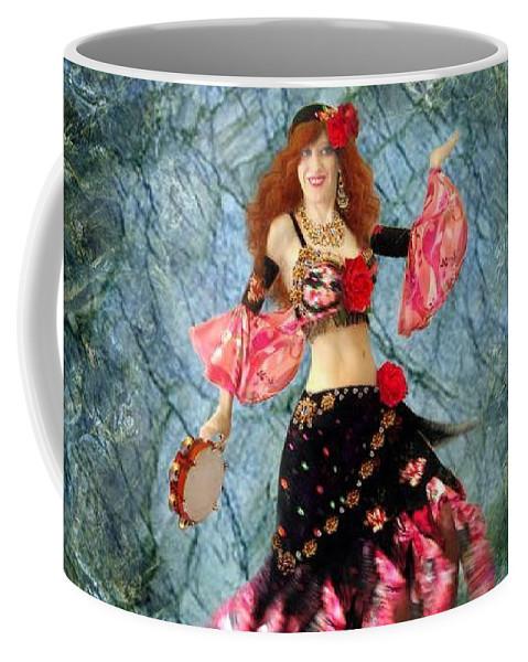 Gypsy Coffee Mug featuring the jewelry Gypsy Queen Sofia The Bellydancer by Sofia Metal Queen