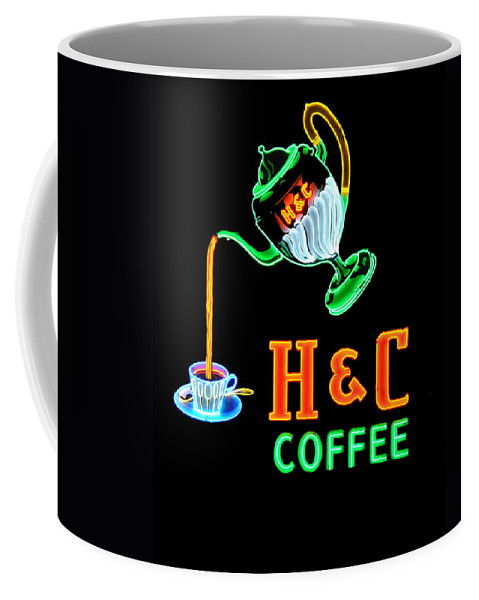 H&c Coffee Coffee Mug featuring the photograph H And C Sign by Eric Liller