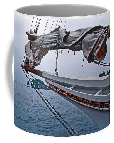 Sailing Gear Coffee Mug featuring the photograph H M Krentz by Skip Willits