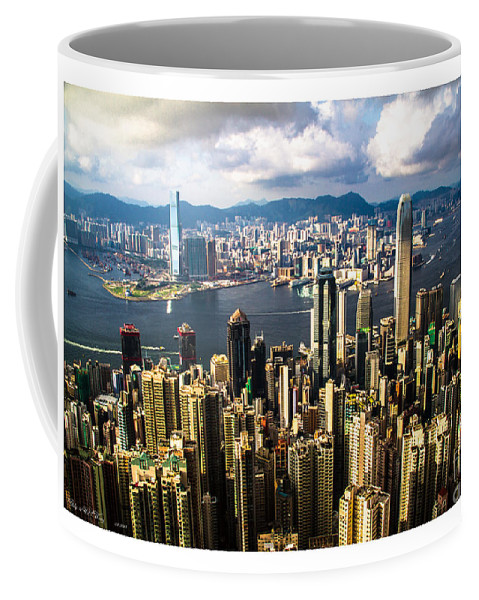 Habour Coffee Mug featuring the painting Habour View by Philip HP Wong