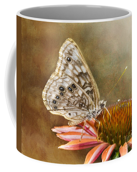 Butterfly Coffee Mug featuring the photograph Hackberry Emperor Butterfly 2 by Betty LaRue