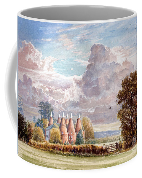Steve Crisp Coffee Mug featuring the digital art Hadlow Stand Of Oasts by Steve Crisp
