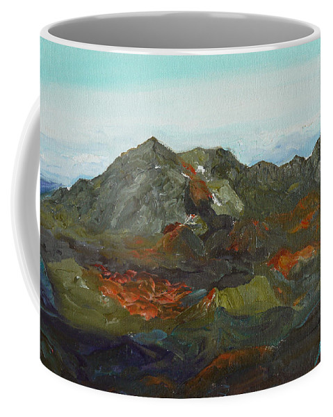 Haleakalā Coffee Mug featuring the painting Haleakala by Joseph Demaree