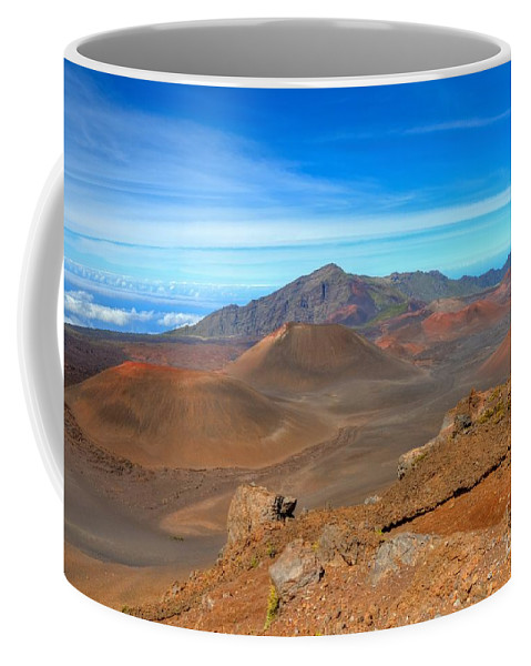 Halakeala Coffee Mug featuring the photograph Haleakala Lava Cones by James Anderson