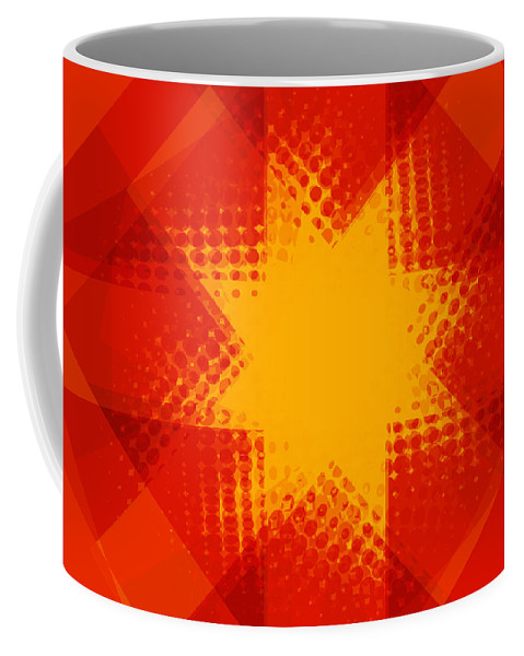 Red Coffee Mug featuring the digital art Halftone Star 2 by Steve Ball