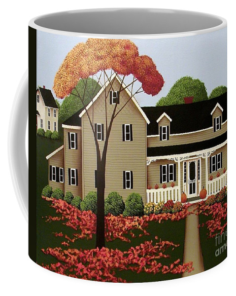 Art Coffee Mug featuring the painting Halloween In Fallbrook by Catherine Holman