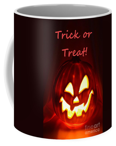 Halloween Coffee Mug featuring the photograph Halloween Trick Or Treat by Mary Deal