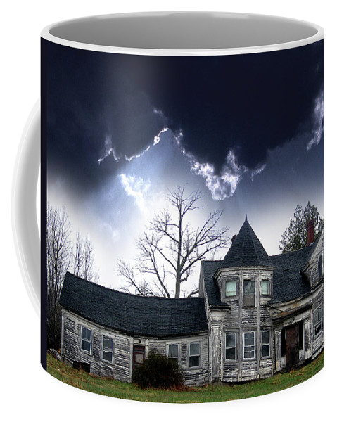 House Coffee Mug featuring the photograph Haloween House by Skip Willits