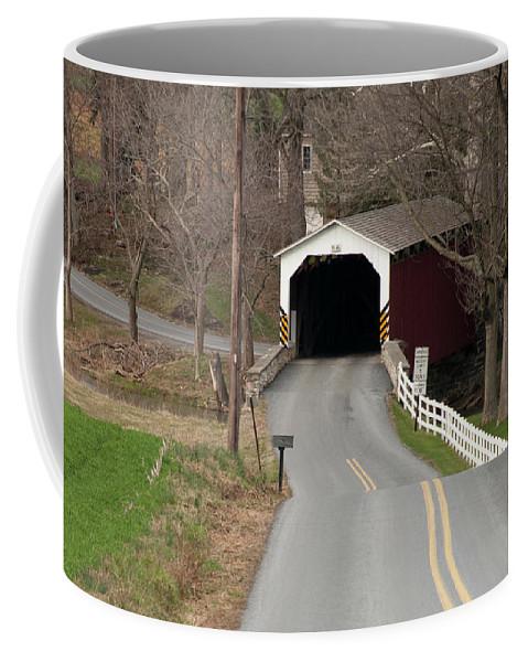 Covered Bridge Coffee Mug featuring the photograph Hammer Bridge by David Arment