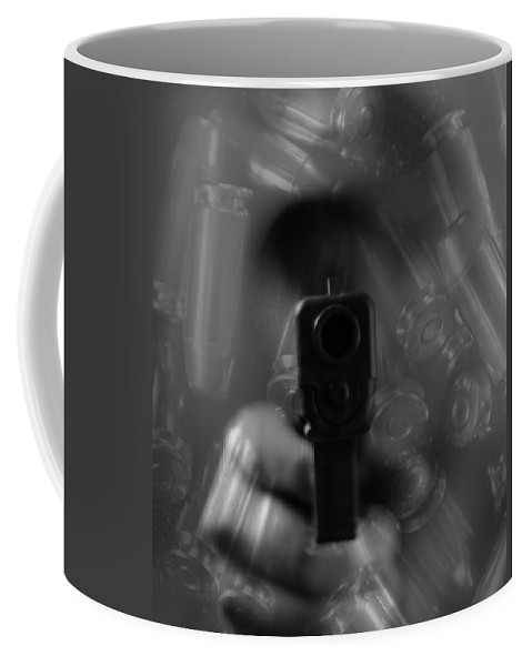 Handgun And Ammunition Coffee Mug featuring the photograph Handgun And Ammunition by Dan Sproul