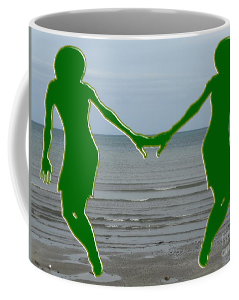 Love Coffee Mug featuring the painting Hands Across The Ocean by Patrick J Murphy