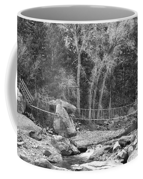 Beautiful Coffee Mug featuring the photograph Hanging Bridge In Black And White by James BO Insogna