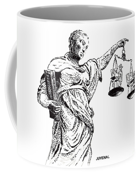 T-shirt Coffee Mug featuring the drawing Hanging In The Balance by Joseph Juvenal