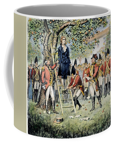 1776 Coffee Mug featuring the photograph Hanging Of Nathan Hale by Granger