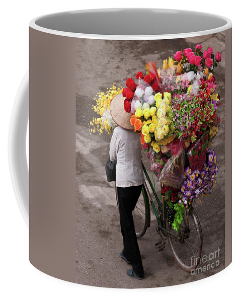 Vietnam Coffee Mug featuring the photograph Hanoi Flowers 01 by Rick Piper Photography