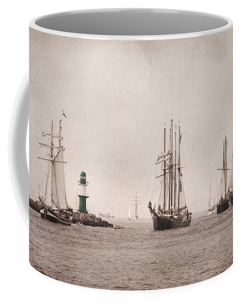 Baltic Coffee Mug featuring the pyrography Hanse Sail by Steffen Gierok