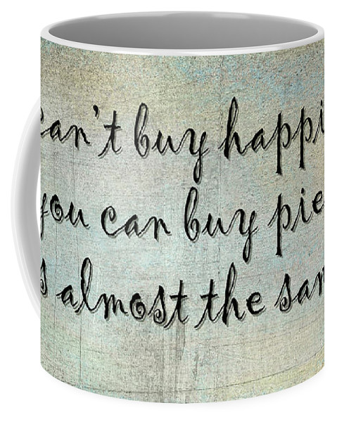 Happiness Coffee Mug featuring the photograph Happiness Is Some Warm Pie by Joan Carroll