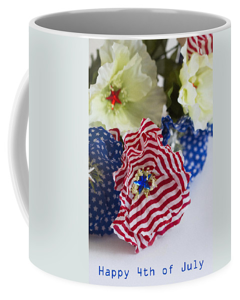 4th Coffee Mug featuring the photograph Happy 4th Of July America by Kathy Clark