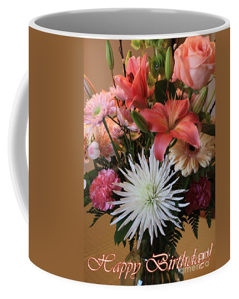 Birthday Card Coffee Mug featuring the photograph Happy Birthday Card by Carol Groenen