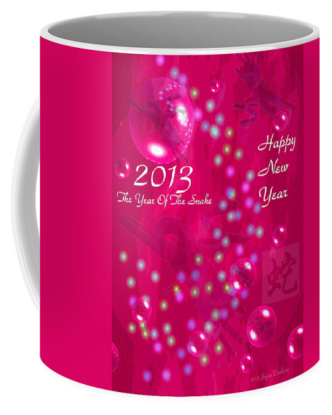 2013 Coffee Mug featuring the photograph Happy Chinese New Year 2013 4 by Joyce Dickens