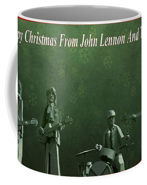 Happy Christmas From John Lennon Coffee Mug featuring the photograph Happy Christmas From John Lennon by Dan Sproul