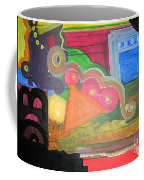 Chain Coffee Mug featuring the painting Happy Family by Veronica V Jackson