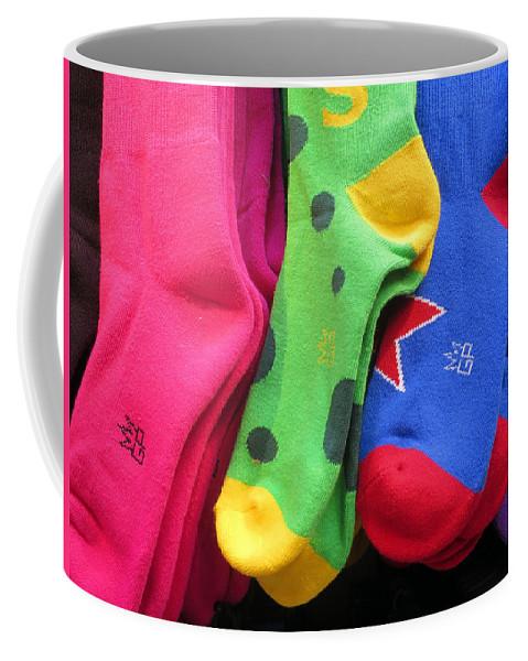 Socks Coffee Mug featuring the photograph Wear Loud Socks by Rick Locke