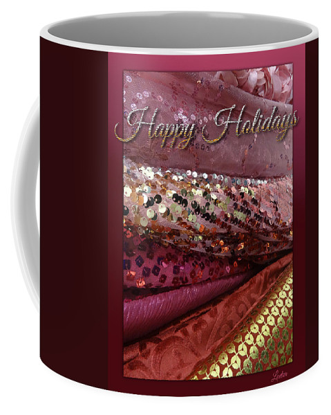 Fabric Coffee Mug featuring the digital art Happy Holidays by Richard Laeton