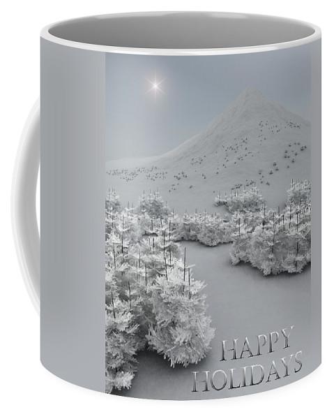 Holiday Greetings Coffee Mug featuring the digital art Happy Holidays by Richard Rizzo