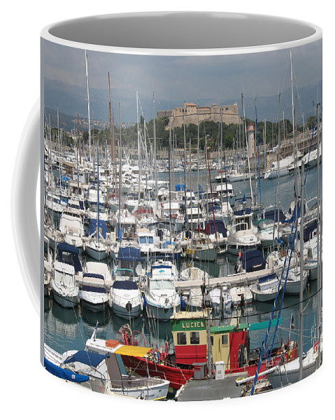 Harbor Coffee Mug featuring the photograph Harbor Antibes Cote D'azur by Christiane Schulze Art And Photography