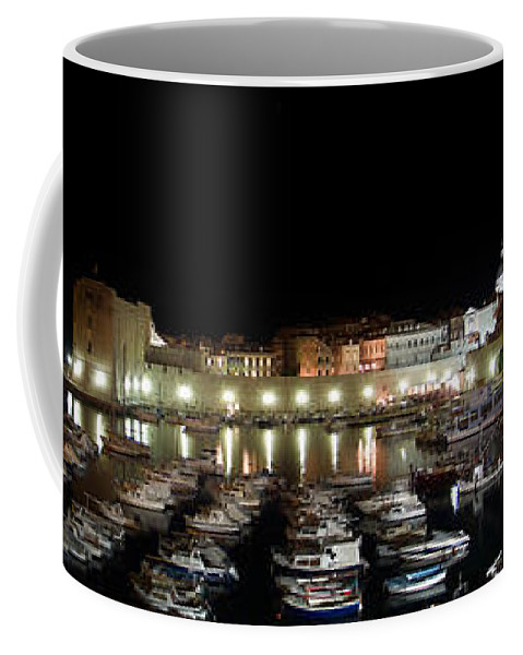 Harbor Coffee Mug featuring the photograph Harbor At Night by Weston Westmoreland