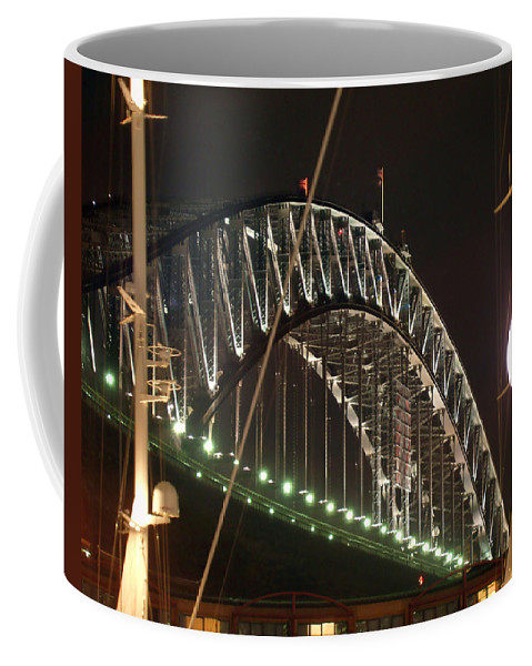 Harbor Bridge Coffee Mug featuring the photograph Harbor Bridge by Ellen Henneke