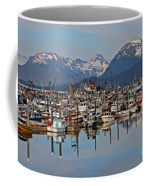 Harbor Coffee Mug featuring the photograph Harbor Life by Rick Monyahan
