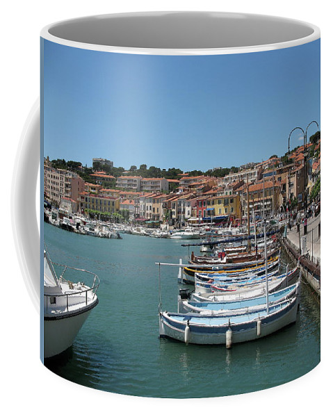 Harbor Coffee Mug featuring the photograph Harbor Scene Cassis by Christiane Schulze Art And Photography