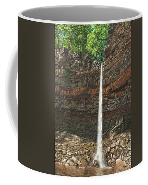 Hardraw Force Coffee Mug featuring the painting Hardraw Force Yorkshire by Richard Harpum