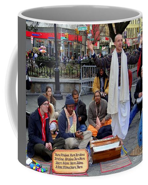 Nyc Coffee Mug featuring the photograph Hare Krishnas Nyc by Ed Weidman