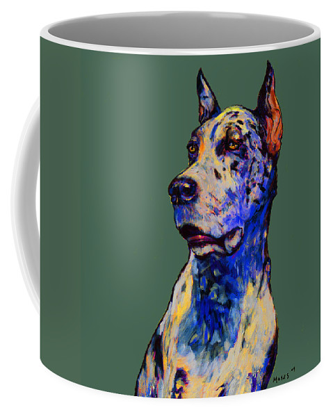 Dane Coffee Mug featuring the painting Harlequin Harlequin by Dale Moses