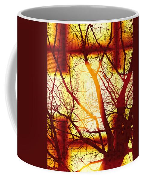 Colorful Coffee Mug featuring the digital art Harmonious Colors - Sunset by Shawna Rowe