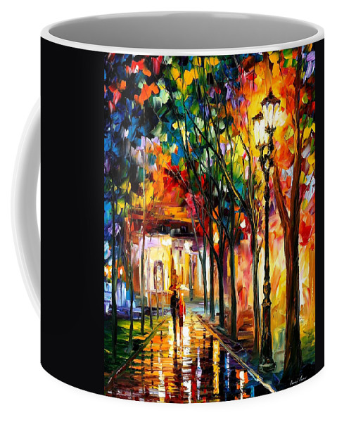 Oil Paintings Coffee Mug featuring the painting Harmony - Palette Knife Oil Painting On Canvas By Leonid Afremov by Leonid Afremov