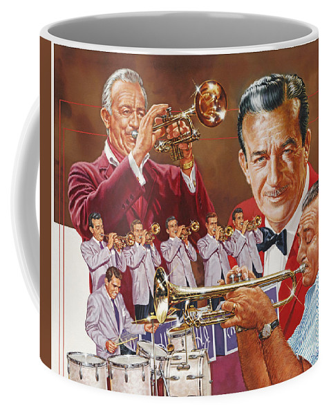 Portrait Coffee Mug featuring the painting Harry James Trumpet Giant by Dick Bobnick