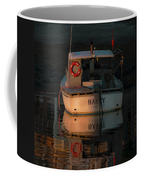 Lobster Boat Coffee Mug featuring the photograph Harry - Lane's Cove by David Stone