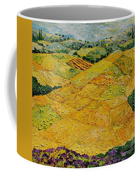Landscape Coffee Mug featuring the painting Harvest Joy by Allan P Friedlander