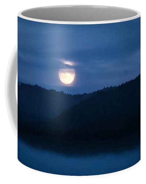 Landscape Coffee Mug featuring the photograph Harvest Moon by Anita Cumbra